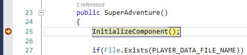 Visual Studio 2013 Breakpoint Encountered
