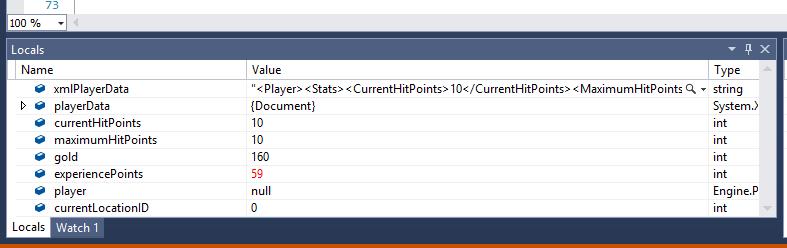 Visual Studio 2013 Debugging Local Variables