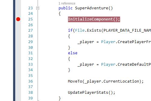 Visual Studio 2013 Set Breakpoint