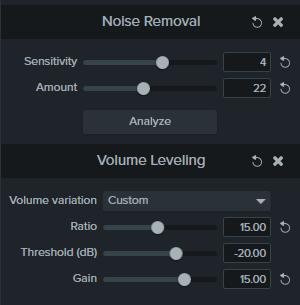 Custom Volume Leveling settings