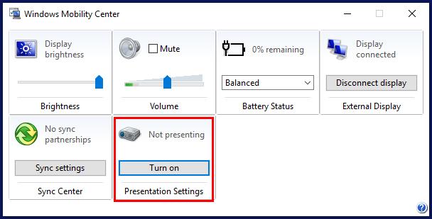 Windows Prsentation Mode